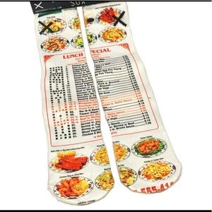 Chinese Takeout Odd Sox Socks Sz 6-13